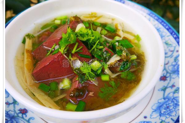 完美猪血汤的做法