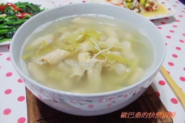 酸菜姜丝猪小肠汤的做法