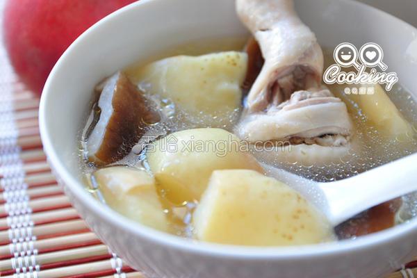 蜜桃香菇鸡汤的做法