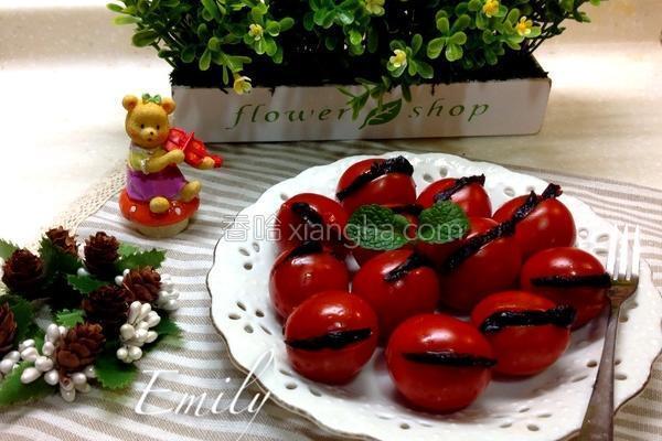 小番茄夹蜜饯的做法