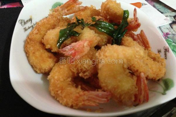 黄金凤尾虾的做法