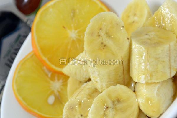 香橙蜜蕉的做法