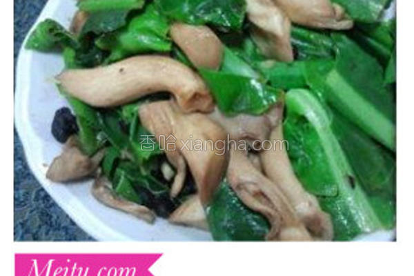 山苏炒秀珍菇的做法