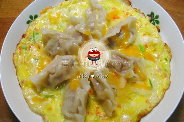饺子起司烘蛋的做法
