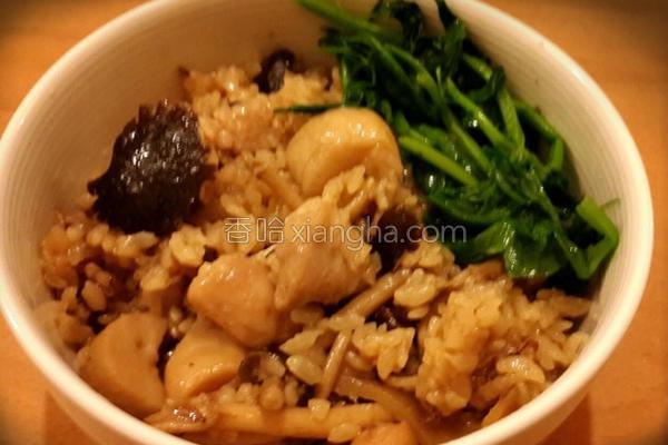 麻油鸡菇菇饭的做法