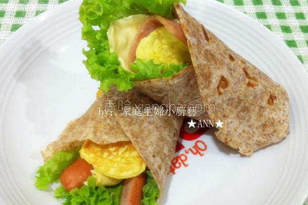 麦饼皮营养早餐卷的做法