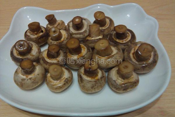 烤五味洋菇的做法