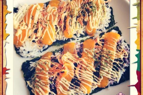烤寿司的做法