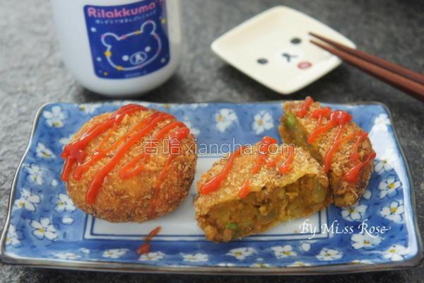南瓜咖哩可乐饼的做法