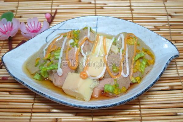 豆腐甜菜茶碗蒸的做法
