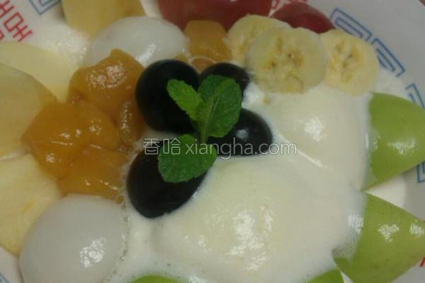 水果冰淇淋汤圆的做法