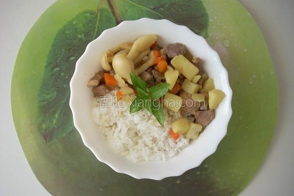 雪白菇咖哩饭的做法