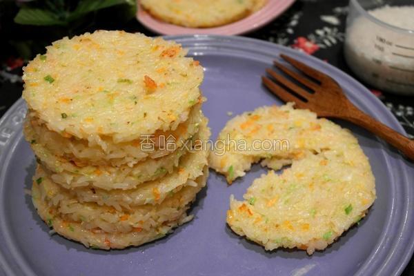 虾肉蔬菜煎米饼的做法