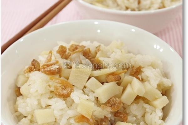 竹笋焖饭的做法