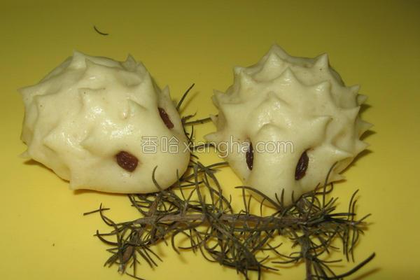 刺猬红豆包子的做法