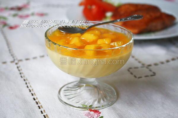 芒果布丁奶酪的做法
