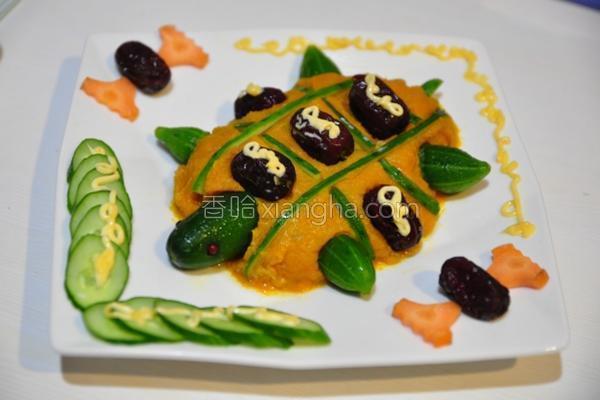 福气红枣南瓜龟的做法