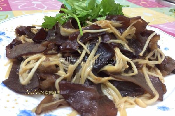木耳烩金针菇的做法