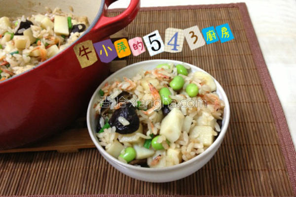 樱花虾炊饭的做法