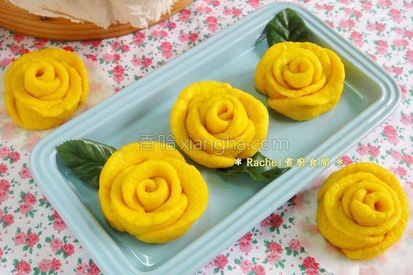 玫瑰花南瓜馒头的做法