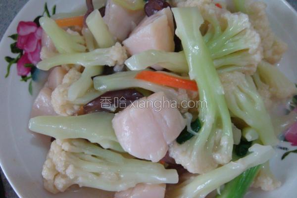 花椰菜炒干贝的做法