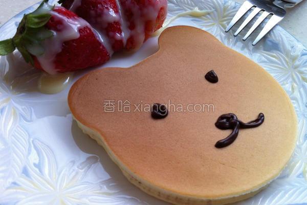 卡通草莓松饼的做法