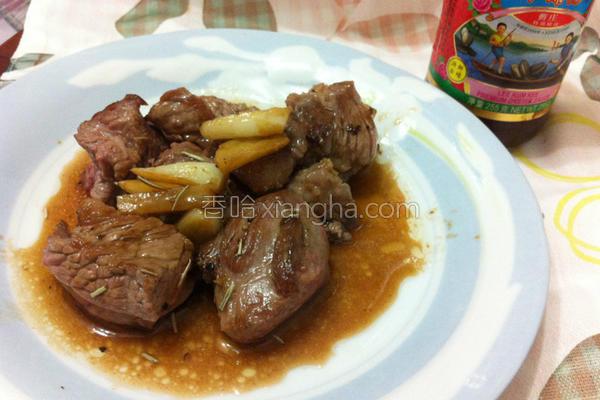 蚝油迷迭香牛肉的做法