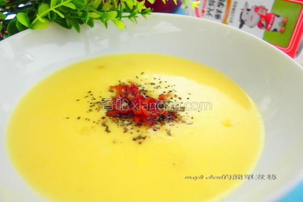 培根牛奶玉米浓汤的做法