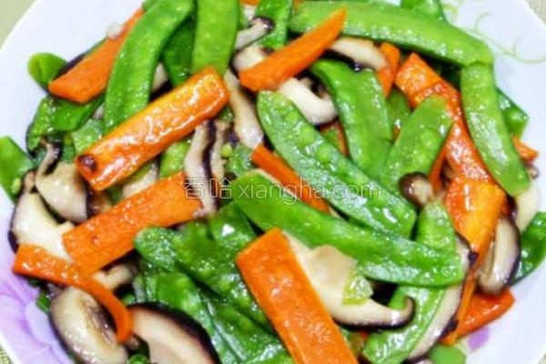 香菇炒时蔬的做法