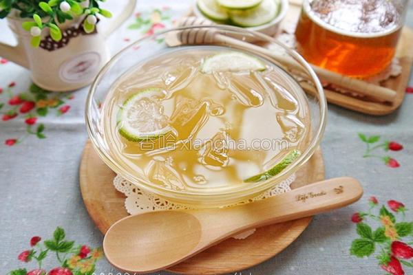 蜂蜜柠檬爱玉冻的做法