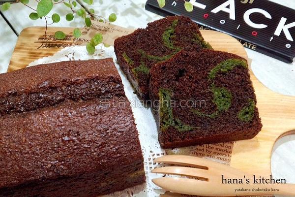 巧克力抹茶磅蛋糕的做法