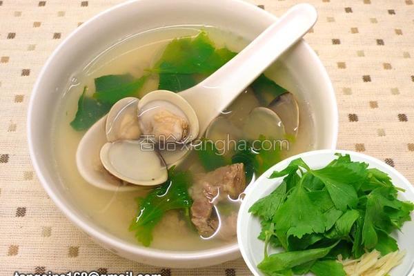 芹叶蛤蜊汤的做法