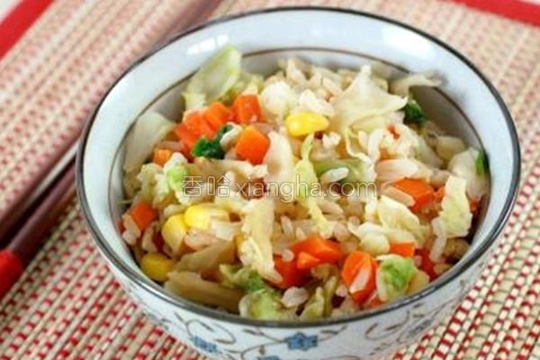 活力蔬菜糙米饭的做法