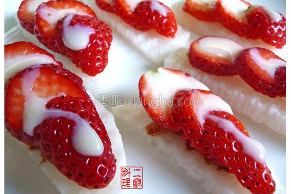 山药乳草莓的做法
