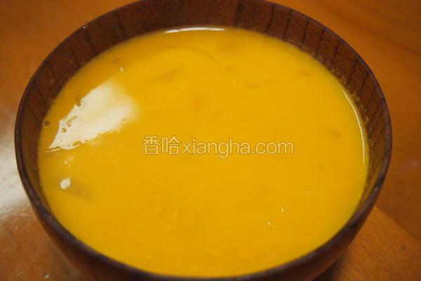 南瓜海鲜浓汤