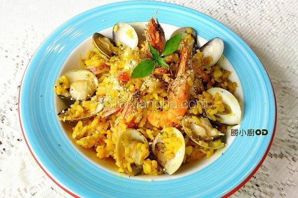 海鲜黄金炖饭