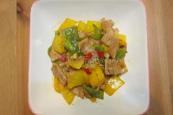 甜椒猪肉片的做法