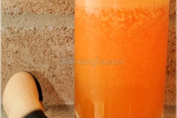 蜜柑胡萝卜汁的做法