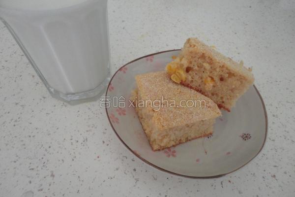 奶油乳酪玉米蛋糕的做法