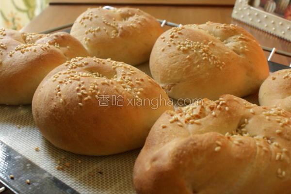 花生芝麻面包的做法