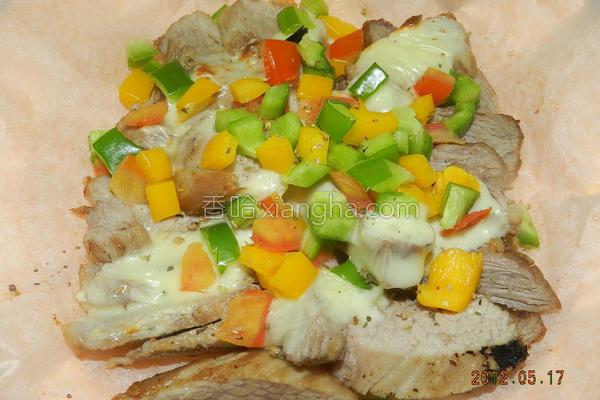 起司蔬菜松板猪的做法