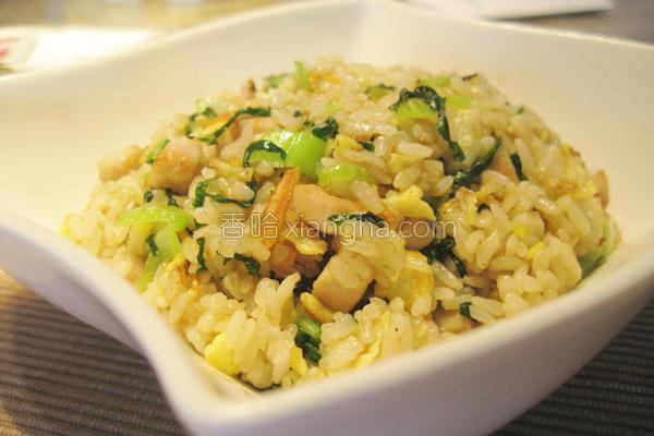 青江菜炒饭的做法