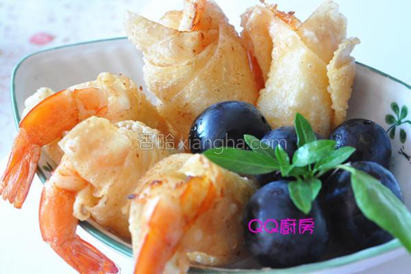 香酥馄饨沙拉虾的做法
