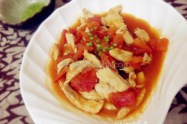 食候番茄鸡丝的做法