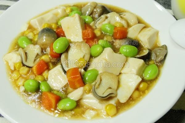 草菇烩豆腐
