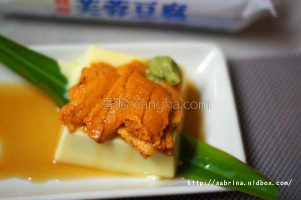海胆豆腐佐鲜果的做法