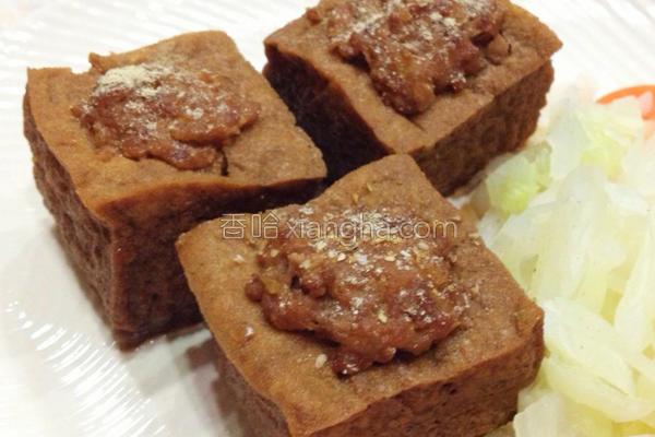 豆腐镶肉的做法