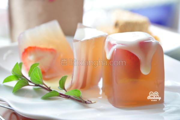 玉润冰清莓果冻的做法