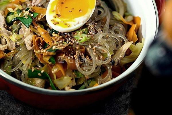 韩式鸡肉炒粉丝的做法