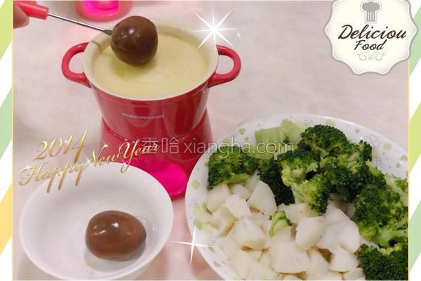 欢喜蛋起司锅的做法
